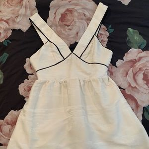 H&M Cream dress with black detailing